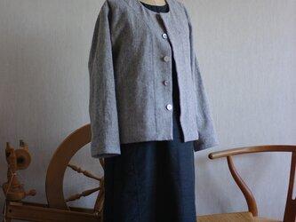 起毛ヘリンボーンのジャケットの画像