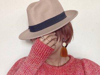 Italian beads earrings (mustard)の画像