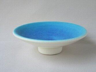 トルコブルーの爽やかプチ皿の画像