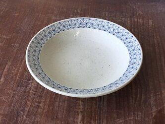 リム付深皿 染付麻紋の画像