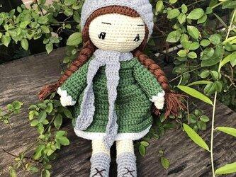 あみぐるみ 人形 ニットトイ ドール 編みぐるみ プレゼント ハンドメイド  出産祝い 女の子 お部屋飾り 手編み 衣装着せ替えの画像