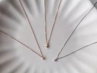 mili K18 Petite Diamond Pendantの画像