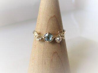 グランディディエライトとローズカットダイヤの指輪(K10)の画像