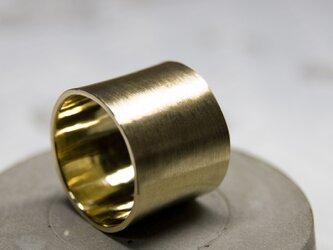 つや消し 真鍮フラットリング 15.0mm幅 マット BRASS RING 373の画像