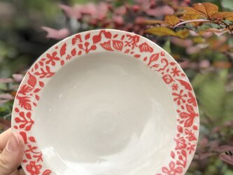 "kakiotoshi rim plate - ""赤い森""の画像"
