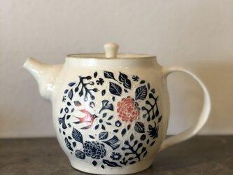kakiotoshi teapot  — 赤い実と渡り鳥の画像