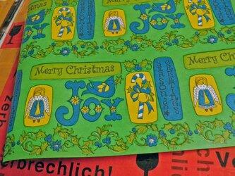 U.S.A. ヴィンテージ包装紙【天使とクリスマス】DA-WP045の画像