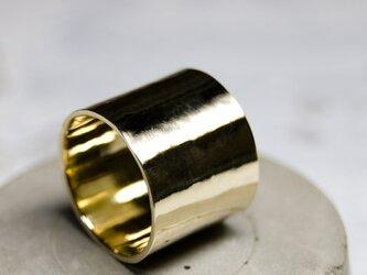 鏡面 真鍮フラットリング 15.0mm幅 ミラー|BRASS RING|374の画像