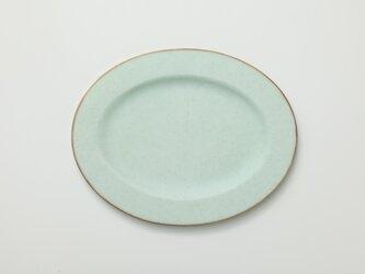 リム皿 オーバル (グリーン)の画像