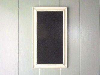 モノトーン花柄 壁掛け額装パネル 黒の画像