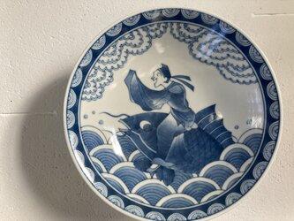 琴高仙人図平鉢の画像