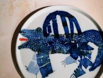 5寸平皿(10-381)ワニの画像