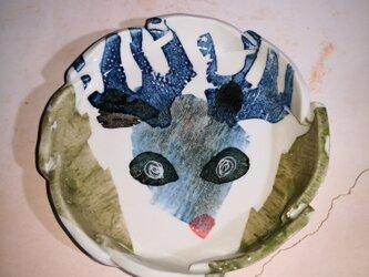 4寸皿(10-382)トナカイの画像