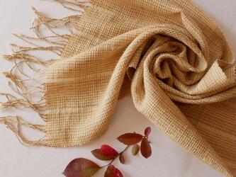 草木染め 手織りシルクストール ST32の画像