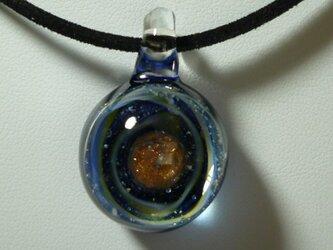 惑星、ひとつ(ガラス、星、宇宙、ペンダント)の画像