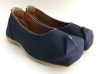 SQUARE shoes #倉敷帆布 #受注製作の画像