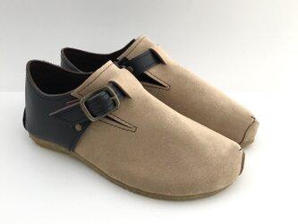 ROUND belt shoes #natural leather #micro-fiber #受注製作の画像