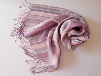 草木染め 手織りシルクストール ST33の画像