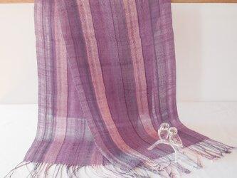 草木染め 手織りシルクストール ST34の画像