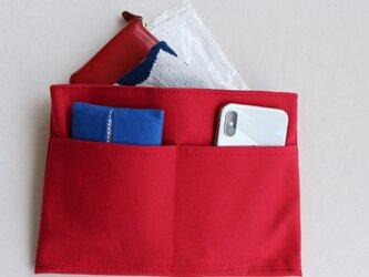 イチゴ 倉敷産帆布使用バッグインバッグ(薄型)【受注製作】の画像