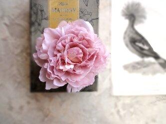 ピオニーのシンプルコサージュ ■ エクリュピオニー 5色展開 ■ ピンクの画像