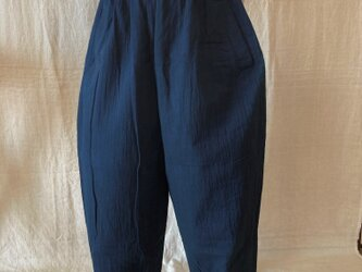 藍染サルエルパンツ(COTTON100%)の画像