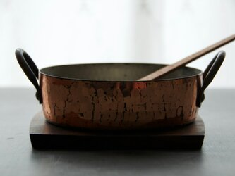 鍋敷き 【ブラックウォールナット】薄型の画像