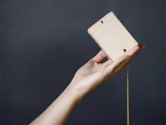 PVC キーケース <おおきめ>(ベージュ)の画像