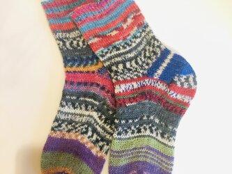 No.429 手編み靴下の画像