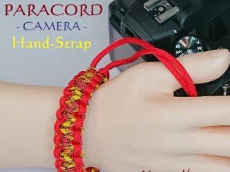ハンドストラップ カメラ PARACORD パラコード パラシュート アウトドア ロープ キャンプ 防災 手編み 送料無料の画像