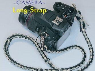 ロングストラップ カメラ PARACORD パラコード パラシュート アウトドア ロープ キャンプ 防災 手編み 送料無料の画像