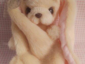 ふわふわぬいぐるみ☆耳の長~いうさぎさん☆サーモンピンク*の画像