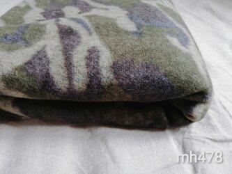 起毛フリースxパイナップルボアのリバーシブルブランケット *72x107cm*の画像