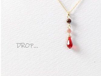 d289_G255【女性の御守り石 こつこつ実を結ぶ】ピンクエピドートとガーネットのネックレスの画像