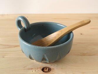 スープカップ~ターコイズブルーの画像