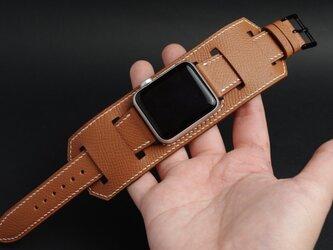 【新作】高級革使用のApple Watchベルト バンドストラップ 時計ベルト レザー 腕時計 革ベルト 皮 革の画像