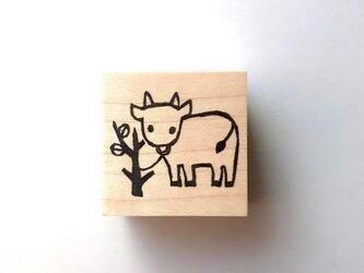 <ゴム製スタンプ>「牛」の画像