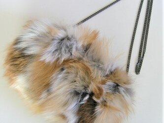 ¶ new antique fur ¶ レッドフォックスショルダーバッグ/ハンドウォーマー2WAYの画像