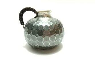 純銀/酒器 丸型徳利  八菱紋の画像
