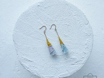 麻のピアス 《 トゥルッリ 》 藍納戸の画像