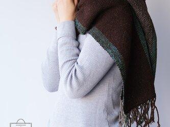 手染め・手織りストール  Wool MocaBrownの画像