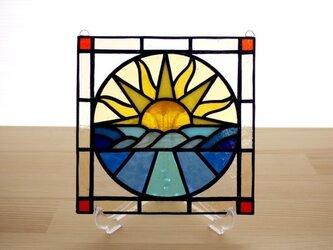 ステンドグラス ミニパネル サンライズ 15cmの画像