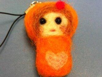 オレンジみかんちゃんストラップの画像