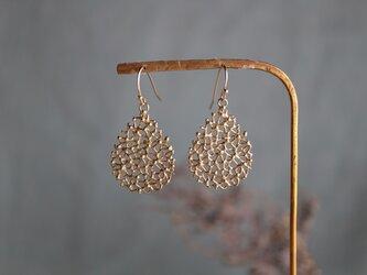 Brass earring 「Morning tears」の画像