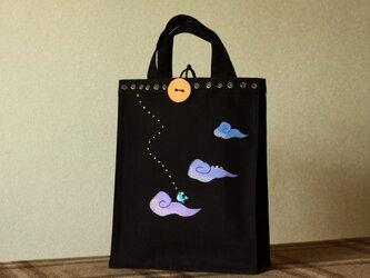 手描きA4サイズbag「あおい鳥」の画像