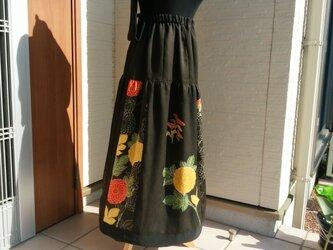 着物リメイク 付け下げの着物がスカートに変身  裏付きですの画像