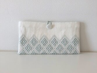 Button Pouch *** ライトブルーの画像