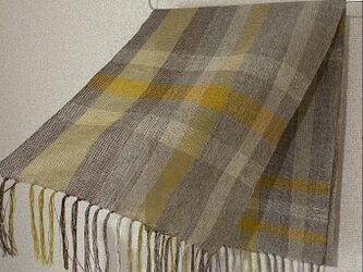手織りストール A53の画像