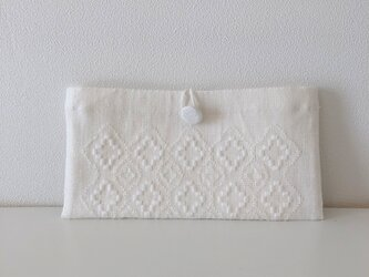 Button Pouch *** ホワイト+++の画像