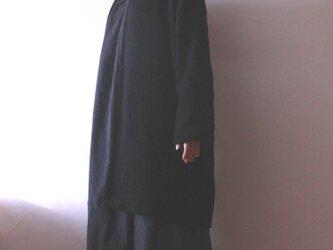 ウールコットンジャガード 羽織コートの画像